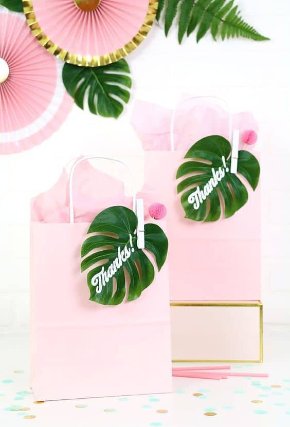 Tropical Themed Party Bags