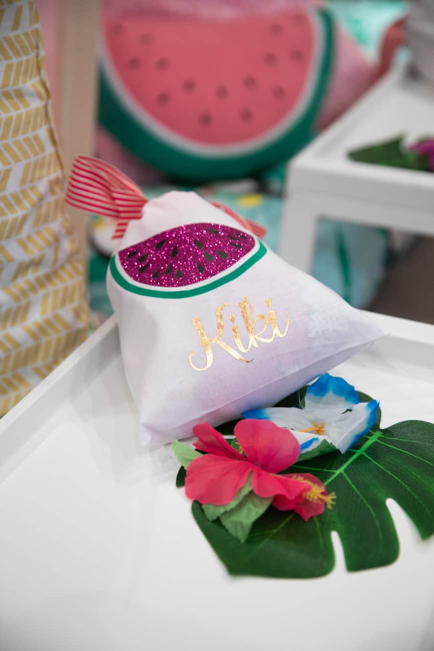 Tropical Themed Personalised Party Bag