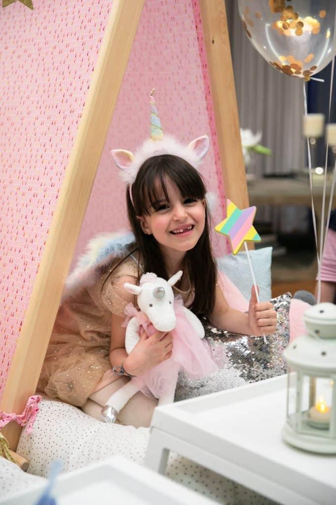 Birthday Girl at Unicorn Party