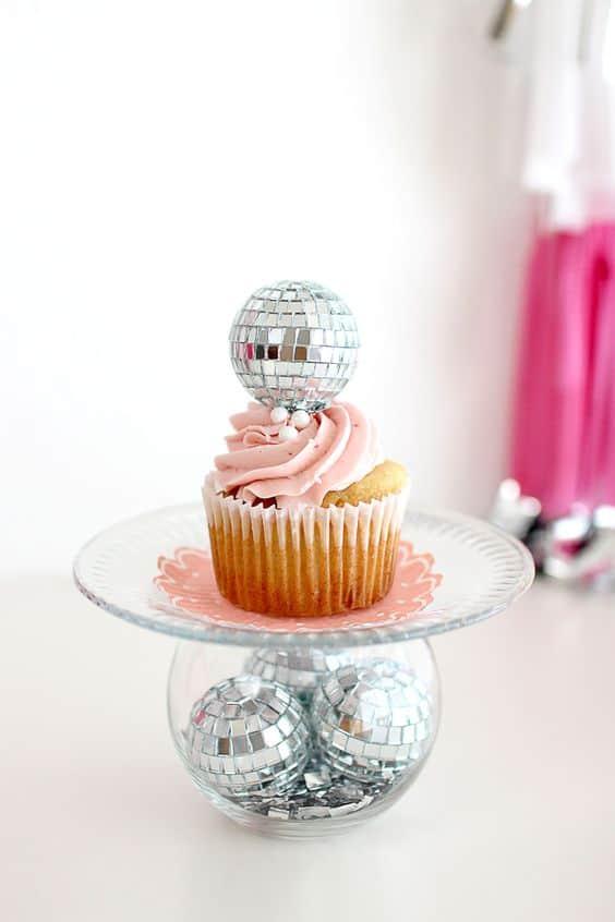 Disco sleepover cupcakes