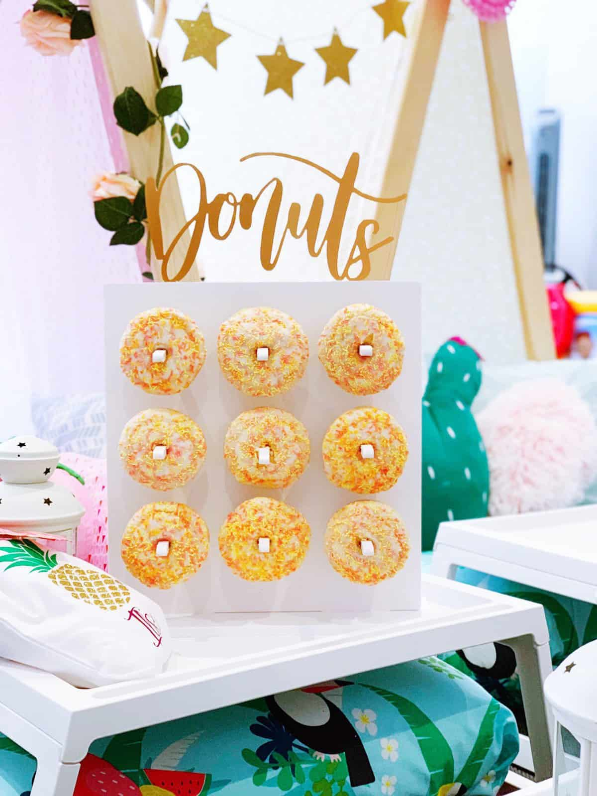 Birthday Party Doughnut Wall