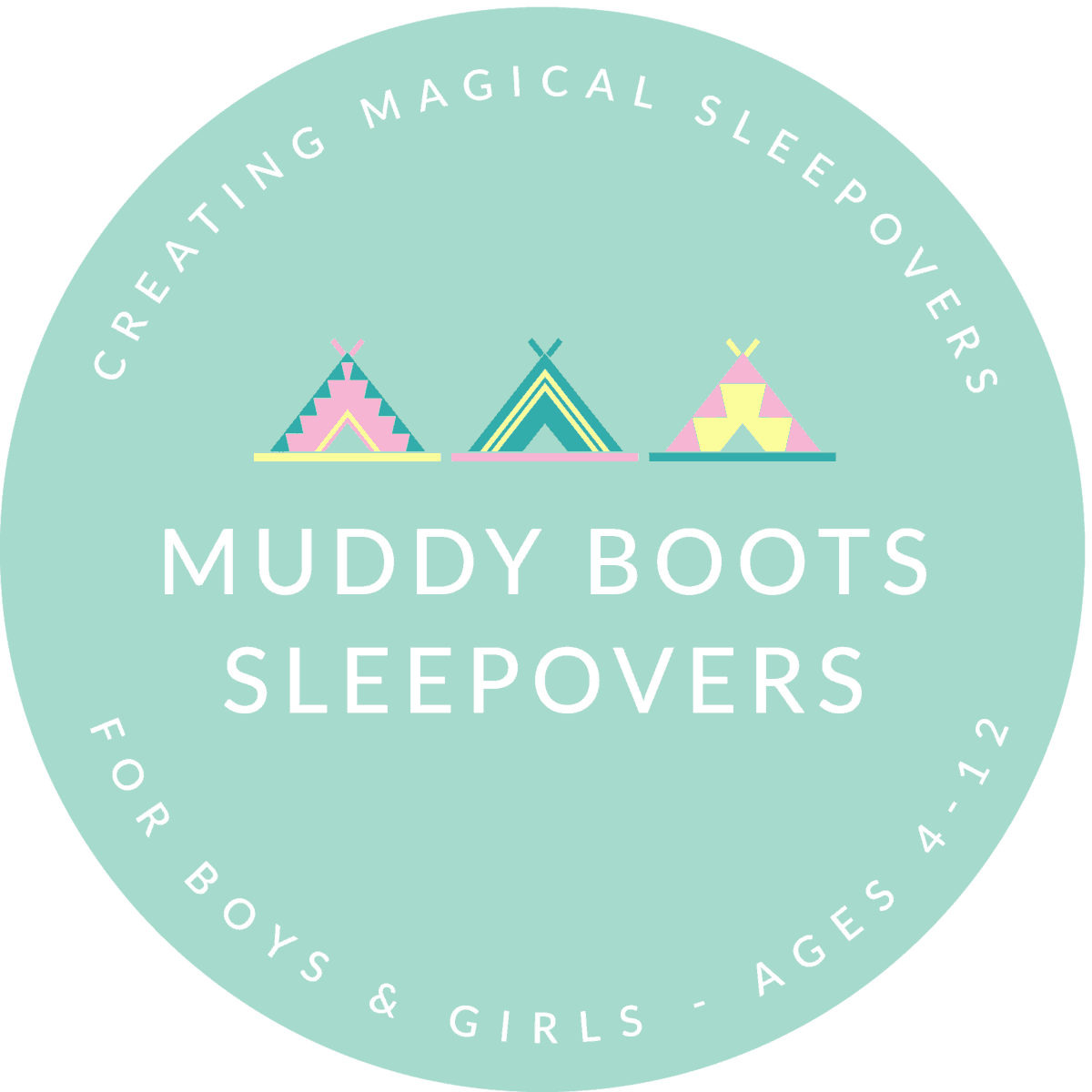 Muddy Boots sleepover-CIRCLE-LOGO-not london