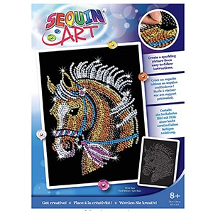 Sequin Art 1517 Horse Craft Project From The Blue Range